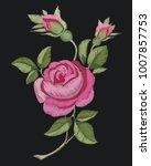 decorative pink rose flower... | Shutterstock .eps vector #1007857753