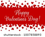 happy valentines day background ... | Shutterstock .eps vector #1007858893