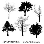 illustration with six trees... | Shutterstock .eps vector #1007862133
