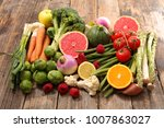 selection of food  low calorie | Shutterstock . vector #1007863027