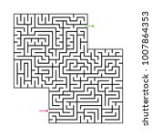 abstract maze labyrinth with...   Shutterstock .eps vector #1007864353