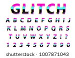 glitch typography noise font.... | Shutterstock .eps vector #1007871043
