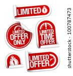 limited offer sale stickers set. | Shutterstock .eps vector #100787473