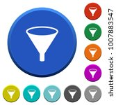 funnel round color beveled... | Shutterstock .eps vector #1007883547