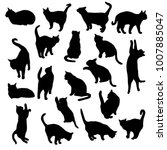 set vector silhouettes of the... | Shutterstock .eps vector #1007885047