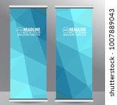 roll up business brochure flyer ...   Shutterstock .eps vector #1007889043