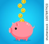 concept of crypto currency.... | Shutterstock .eps vector #1007897923