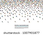a crowd of people on a white... | Shutterstock .eps vector #1007901877