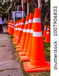 orange traffic cones in the... | Shutterstock . vector #1007906833