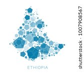 map of ethiopia filled with...   Shutterstock .eps vector #1007908567