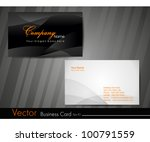 Abstract professional and designer business card template or visiting card set. EPS 10. Vector illustration. - stock vector