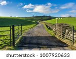 an open gate and a cattle grid... | Shutterstock . vector #1007920633