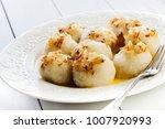 potato dumplings stuffed with... | Shutterstock . vector #1007920993