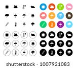 weather icons set | Shutterstock .eps vector #1007921083