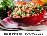 tabbouleh salad with couscous... | Shutterstock . vector #1007921323