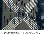 Aerial View Of People Passing...