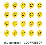 smiling icon of yellow balloons ... | Shutterstock .eps vector #1007938507