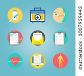 icon set about medical with... | Shutterstock .eps vector #1007939443