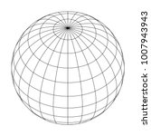 earth planet globe grid of... | Shutterstock .eps vector #1007943943
