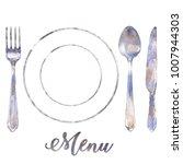 silverware vintage tableware... | Shutterstock . vector #1007944303