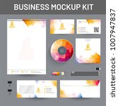 branding mockup set  corporate... | Shutterstock .eps vector #1007947837