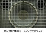 Small photo of Detail of an audio speaker used to amplify musical instruments