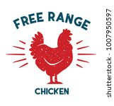 free range chicken vector file