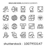 business elements  bold line... | Shutterstock .eps vector #1007953147
