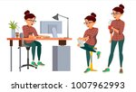 business woman character vector.... | Shutterstock .eps vector #1007962993
