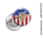 happy presidents day button... | Shutterstock .eps vector #1007964193