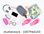 summer fashion life style ...   Shutterstock . vector #1007966143
