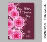 mother's day greeting card with ... | Shutterstock .eps vector #1007968237