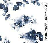 seamless summer pattern with... | Shutterstock . vector #1007971333