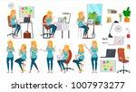 business woman character set... | Shutterstock .eps vector #1007973277