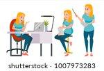 business woman character vector.... | Shutterstock .eps vector #1007973283