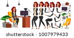 business woman character vector.... | Shutterstock .eps vector #1007979433