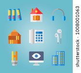 icon set about real assets.... | Shutterstock .eps vector #1008001063