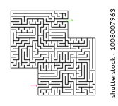 abstract maze labyrinth with...   Shutterstock .eps vector #1008007963