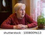 emotional elderly woman  a... | Shutterstock . vector #1008009613