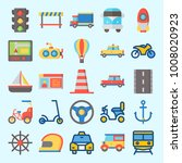 icons set about transportation... | Shutterstock .eps vector #1008020923