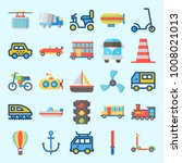 icons set about transportation... | Shutterstock .eps vector #1008021013