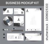 branding mockup set  corporate... | Shutterstock .eps vector #1008025333