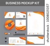 branding mockup set  corporate... | Shutterstock .eps vector #1008025357