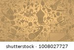russian gold wallpaper  16 9... | Shutterstock .eps vector #1008027727