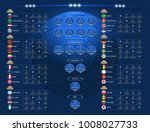 match schedule  2018 final draw ... | Shutterstock .eps vector #1008027733