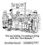the farmer is upset that his... | Shutterstock . vector #100802797