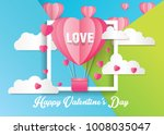 love and valentine day card... | Shutterstock .eps vector #1008035047