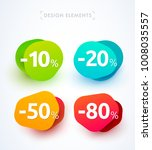 vector abstract bubbles  labels ... | Shutterstock .eps vector #1008035557