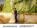 happy bride and groom   Shutterstock . vector #1008040477