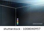 halftone black gradient...   Shutterstock .eps vector #1008040957